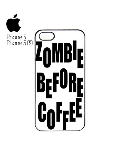 Zombie Before Coffee Mobile Phone Case Back Cover Coque Housse Etui Noir Blanc pour for iPhone 6 Black Blanc