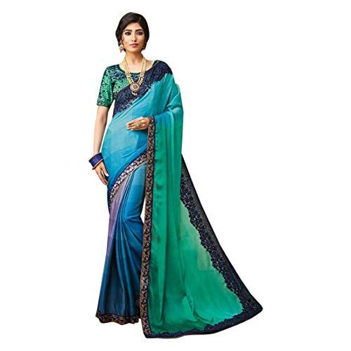 ETHNIC EMPORIUM Designer New Party Wear Seide Georgette Saree Sari mit Bluse Stück traditionelle ethnische Kleidung Kleid für Frauen Trendy Indian Woman Indian 8142 Seide Saree