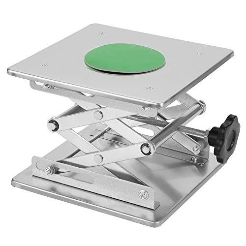 200 × 200 × 280mm Lab Scissor Jack Labor Lab Hubarbeitsbühne Labortische Edelstahl Wissenschaftliche Heber Höhenverstellbar