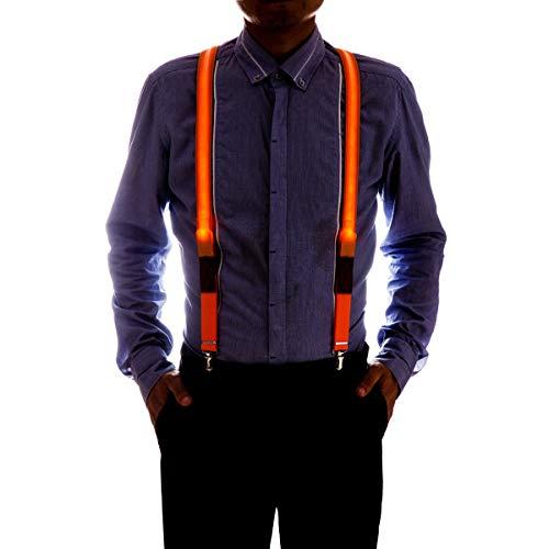 D Hosenträger für Herren und Damen Neon Y Shape Hosenträger (Orange) ()