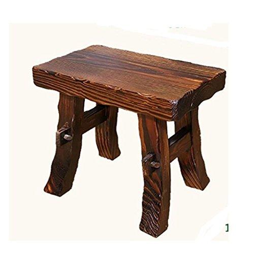 Classic Hocker (TIANYINI DENGZI Home Praktische Hocker Europäische Hocker Fußhocker Komforthocker Schuhe Hocker Wildbänke Schlafzimmerhocker Kreativhocker Massivholzhocker Dickes Classic Wood (28 * 23 * 18cm))
