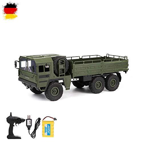 HSP Himoto 2.4GHz RC Ferngesteuerter 6WD Off-Road Militär Army Truck Crawler Fahrzeug Transporter, Komplett-Set RTF - Monster-lkw-spielzeug Mädchen,
