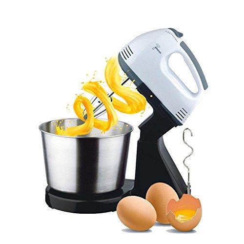 Seasaleshop 【Verbesserte Version】Handrührer Eggbeater Tisch-Ei-Schläger mit Edelstahl Ei-Fass, Automatischer Mini-elektrischer Mischer Schneebesen mit Ei-Fass