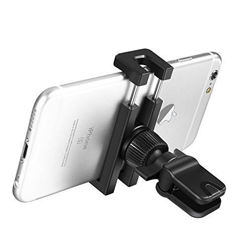 SKYEE Soporte Movil Coche de Pinza, SKYEE Universal Soporte Teléfono Coche para Rejilla de Ventilación con 360 grados Rotación Flexible para iPhone 7/7 Plus/6/6s Plus/5S/5C/SE, Samsung Galaxy S8/S7/S6 Edge, Huawei, BQ, GPS, y más Smartphone (Negro)