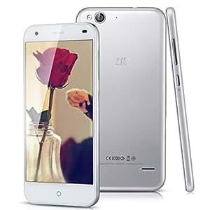 ZTE Blade S6 5'' Android IPS 5.0 Lollipop OS Qualcomm MSM8939 sbloccato 4G Smartphone - 1280 x 720 HD Schermo Octa core 1.5GHz telefono mobile doppio Nano SIM Dual Standby 2GB di RAM 16GB ROM + 13.0MP telecamere 5.0MP GPS WIFI cellulare phablet Per Arancione O2 Vodafone 3 rete T-Mobile Wind Tesco mobile Virgin Mobile Network 2G e 3G e 4G SIM Card - Argento