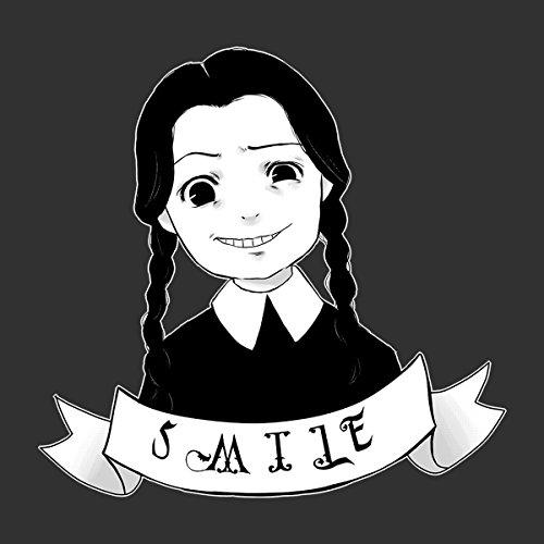 Smile Wednesday Addams Family Women's Hooded Sweatshirt Charcoal