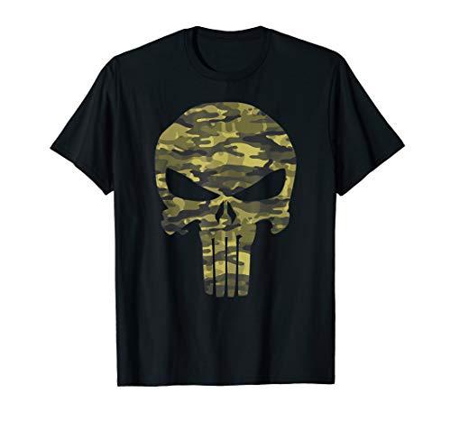 Marvel The Punisher Camo Skull Symbol Graphic T-Shirt -