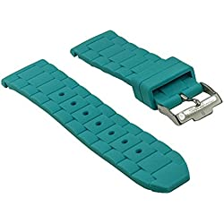 Watch Band Silikon 22mm Jacques Lemans Rome 1-1622 1-1586, colours:turquoise