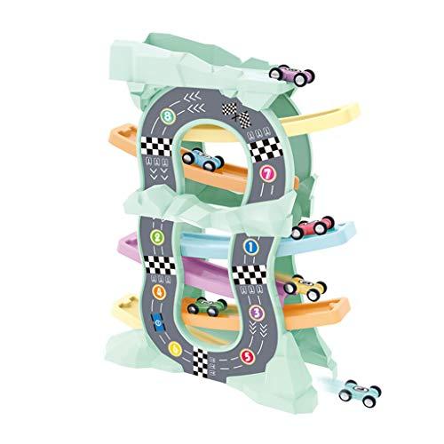 Junge Gleiten Auto Parkplatz Frühe Kindheit Kinderspielzeug Inertia Track Trolley 1-3-6 Jahre Alt -