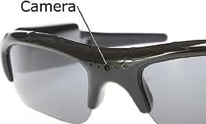 iclever®Esky Caméra espion de surveillance lunettes de soleil spycam caché enregistrement sur carte SD 16G(non incluse)