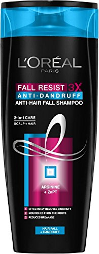 L'Oreal Paris Fall Resist 3X anti-Dandruff Anti-Hair Fall Shampoo, 175ml