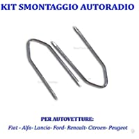 Llaves Extracción para autorradio FIAT Alfa Lancia Citroen Peugeot Renault Ford Kit Desmontaje de acero