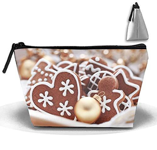 Ornamente Lebkuchen-Make-up-Beutel-Reise-trapezförmige Handtasche mit Reißverschluss