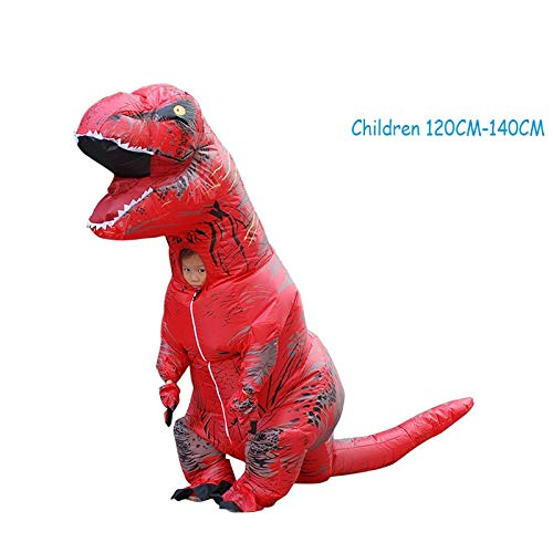 Kostüm Leicht Puppe - BWNWPH Halloween Tyrannosaurus Aufblasbare Kostüme Halloween Dinosaurier Kostüm Cartoon Puppen Requisiten Party Spielzeug (Color : Red, Size : Child)