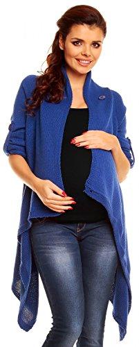 Zeta Ville Maternité - Cardigan grossesse Gilet Veste Cascade - femme - 349c Bleu Jeans