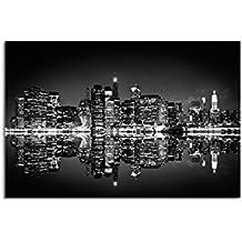 suchergebnis auf f r new york skyline leinwand schwarz weiss. Black Bedroom Furniture Sets. Home Design Ideas