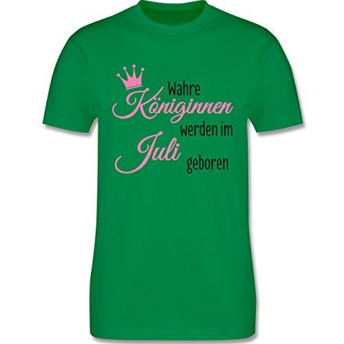 Geburtstag - Wahre Königinnen werden im Juli geboren - Herren Premium T-Shirt Grün