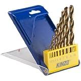 Kinzo 72059 10 Forets cylindriques tous métaux HSS 1 à 10 mm
