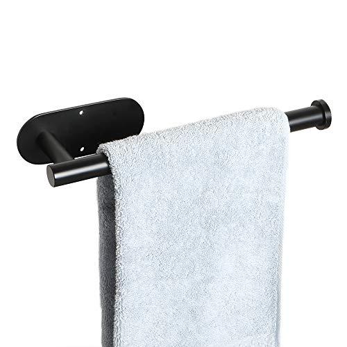 Sayayo Handtuchring Handtuchhalter optional 3M selbstklebend oder Schrauben montiert, SUS-304 Edelstahl matt schwarz EGX1706-B -