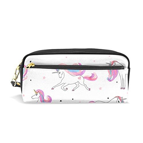 jstel unicornios escuela lápiz bolsa para bebés de los niños Niños Adolescentes soporte para bolígrafos de maquillaje bolsa mujer duradera gran capacidad bolsa de papelería