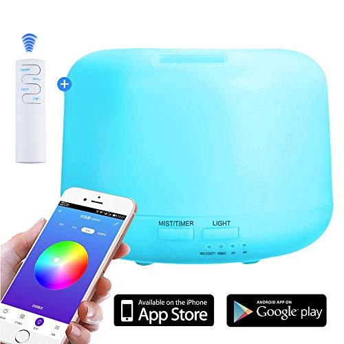 NEWKBO 300 ml Smart Aroma Aceite Esencial Difusor App/WiFi Mando a Distancia Humidificador Purificador...