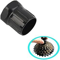 Malayas® Extractor de Casette de Bici, Llave de Eje de Cadena de Bici, Herramientas para la Reparación de Bicicletas, compartible para Shimano/ISIS/SRAM/Sun Race/SunTour