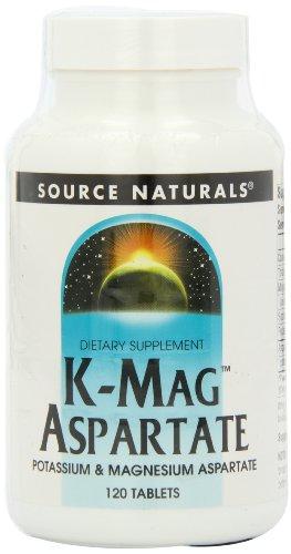 Source Naturals K-Mag, Aspartate 120 Tabs Test