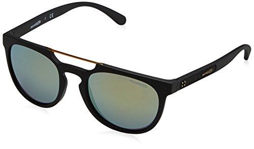 Arnette Herren 0AN4237 01/8N 52 Sonnenbrille, Schwarz (Matte Black/Mirrorgreengold)