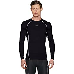 Under Armour Ua Hg Armour Ls, Camiseta de Compresión de Manga Larga Para Hombre, Negro (Black/Steel), X-Large