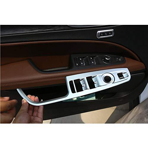 Fenêtre en Plastique ABS Bouton Lève-Cadre Couverture Garniture Kit Voiture Argent Mat pour LHD Stelvio 2017 Conducteur À Gauche