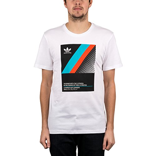 Adidas Vhs Block Tee White/Black/Energy Blue/Energy White/Black/Energy Blue/Energy