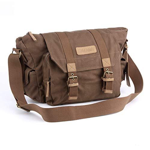 JACKBELLB CanvasSlingUmhängetaschenFoto Video Soft Bag Pack Reiseschutzhüllenfür CanonSony F1 Coffee -
