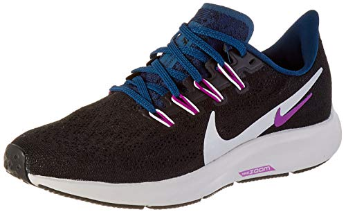 Nike Damen WMNS AIR Zoom Pegasus 36 Laufschuh, Black/Summit White/Valerian Blue/Vivid Purple, 37.5 EU