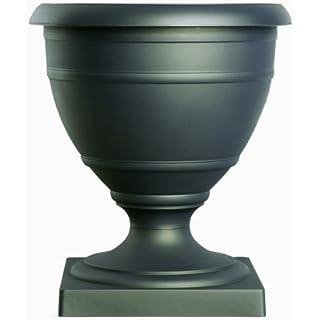 Akro-Mils RUA16000G18 16-Inch Olympia Marina Series Urn, Black Onyx