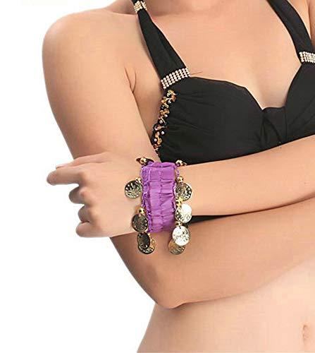 bal Bauchtanz Armbänder Armband Armband für Frauen Mädchen Gold Armbänder tragen Outfits (Violett) ()