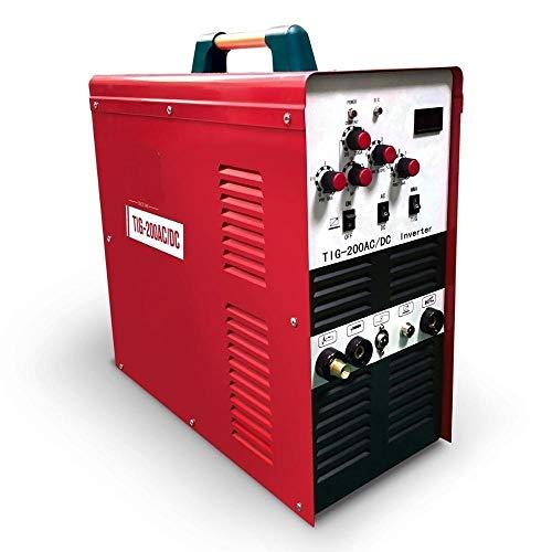 Schweißmaschine WIG-Schweißgerät 200 Amp. Inverter-Schweißgerät AC/DC-Impuls-Hochfrequenzschweißgerät mit IGBT-Technologie für Aluminium,Einfach zu verwenden (Color : TIG 200-AC/DC, Size : 110V)