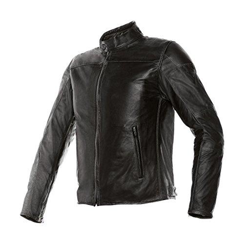 Dainese-mike giacca da moto in pelle, nero, taglia 48