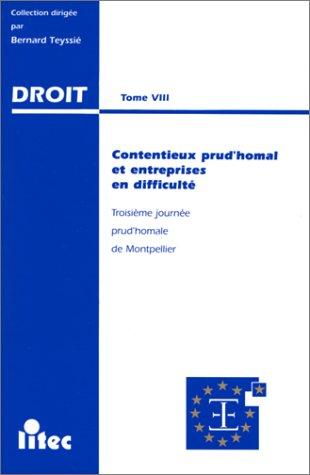 Contentieux prud'homal et entreprises en difficulté: [actes/de la 3ème journée prud'homale organisée à Montpellier le 4 Mai 1996 par l'Institut entreprises du bâtiment] (ancienne édition)