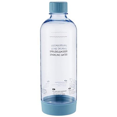 Levivo PET-Flasche mit Schraubverschluss, passend für viele SodaStream Sprudler, Blau, 1.0 Liter - hochwertige Kunststoff Flasche mit Deckel, in mehreren Farben, nicht für Levivo Wassersprudler