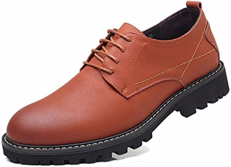 Primavera/Verano Hombres Zapatos Retro De Cuero Grande Zapatos Martin Zapatos De Trabajo Zapatos Casuales