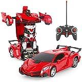 لعبة سيارة متحولة الى روبوت مع ريموت كونترول للاولاد - احمر