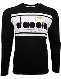 Diadora Sport 502173795 Crew Spectra, Felpa Uomo, Black/White, M