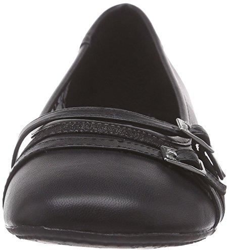 s.Oliver Damen 22110 Geschlossene Ballerinas Schwarz (Black 001)