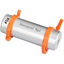 TOOGOO(R) 8GB Reproductor MP3 Acuatico Sumergible Audio Musica USB Plata