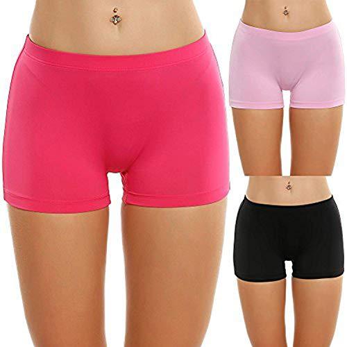 Palazen Shorts Algodon para Mujer Pack de 3 Bragas Boxer Leggings Cortos Boxers Pantalones