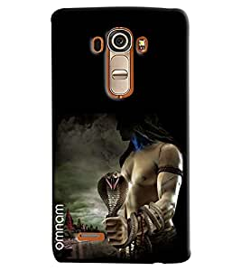 Omnam Lord Shiva Swaroop With Snake Printed Designer Back Cover Case For LG G4
