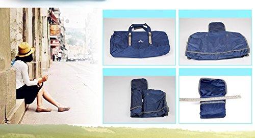ALUK-Outdoor-Sporttasche Tasche Tasche diagonal Schulter tragbare Falten leichte Sporttasche Blau