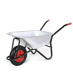 MAXCRAFT Schubkarre 200 kg 100 L Bauschubkarre Gartenschubkarre Transportkarre Schiebkarre mit Luftbereifung - Schwarz
