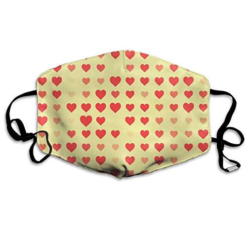 Vbnbvn Unisex Mundmaske,Wiederverwendbar Anti Staub Schutzhülle,Pastel Heart Seamless Pattern Adult Creative Mouth-Masks Washable 100% Polyester Breathable Health Anti-Dust Half Face Masks (Pasteles Maschine)