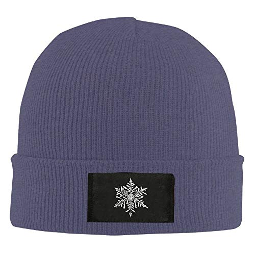 Bikofhd Christmas Snowflake Winter Warm Knit Hats Skull Caps Thick Cuff Beanie Hat for Men and Women New8 -